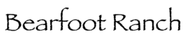Bearfoot Ranch logo