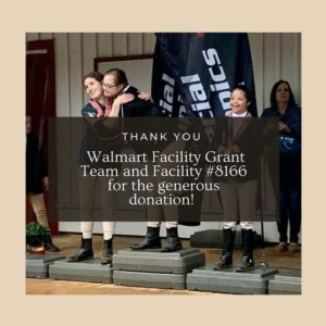Walmart Facility Grant Team Donation