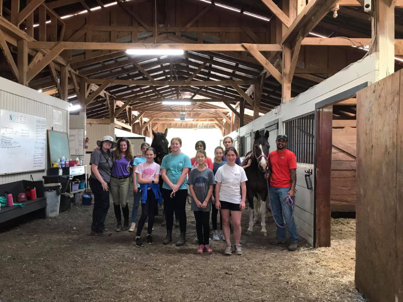 Junior Girl Scout Troop 11808 at Bearfoot Ranch