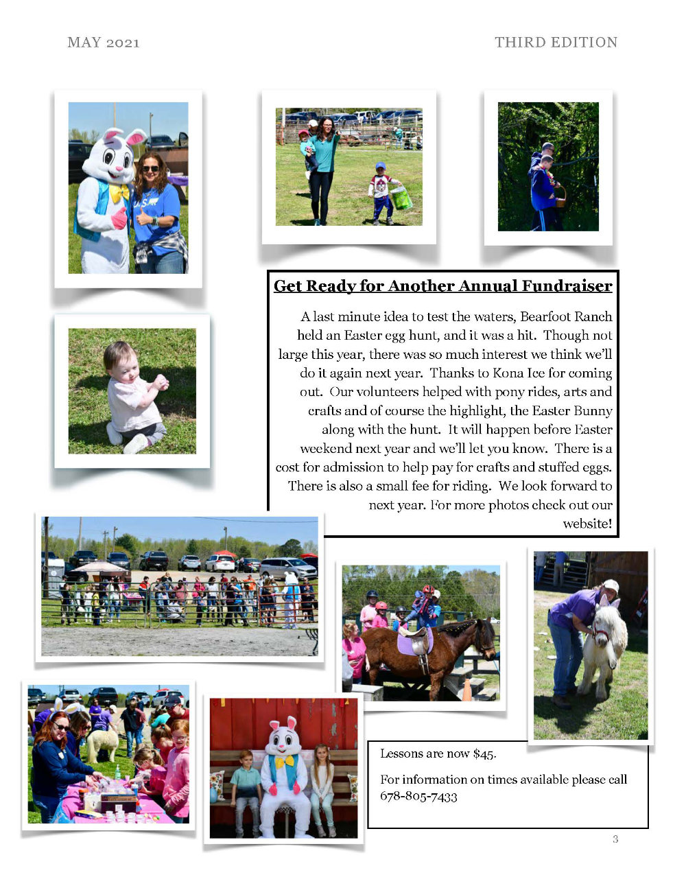 Bearfoot Ranch May 2021 Newsletter page 3